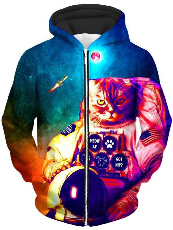 ALL HoodieZipUp02Front Castronaut 2048x2730 1 - Galaxy Hoodie