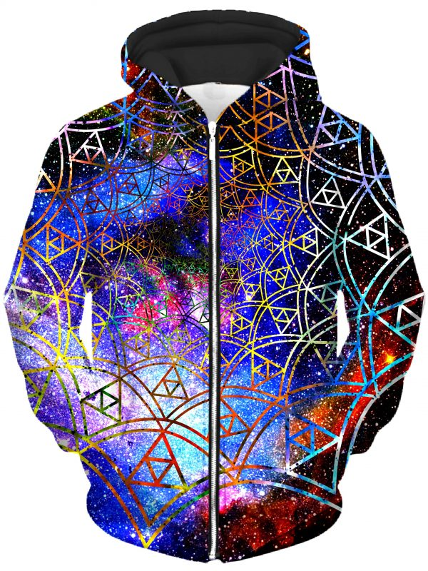 ALL HoodieZipUp02Front Fractal 2048x2730 1 - Galaxy Hoodie