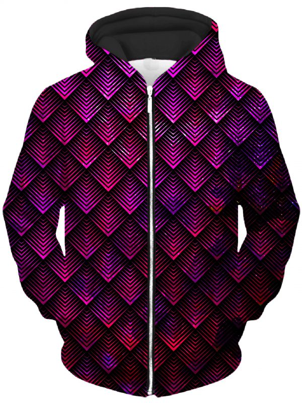 ALL HoodieZipUp02Front GalacticDragonScalePink 2048x2730 1 - Galaxy Hoodie