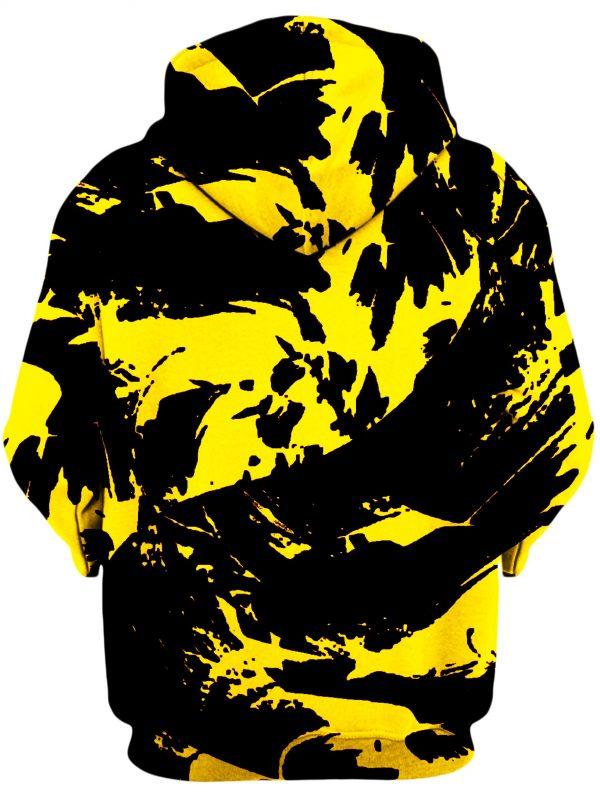 BIGTEXFUNKADELIC HoodiePullover02Back Black and Yellow Paint Splatter 1024x2730 1 - Galaxy Hoodie