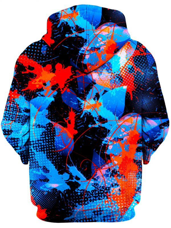 BIGTEXFUNKADELIC HoodiePullover02Back Blue and Orange Paint Splat Abstract 1024x2730 1 - Galaxy Hoodie