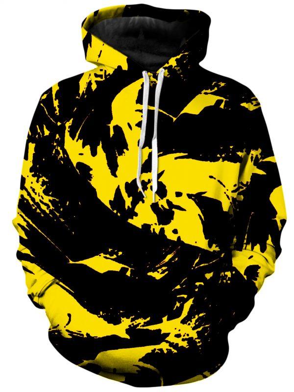 BIGTEXFUNKADELIC HoodiePullover02Front Black and Yellow Paint Splatter 1024x2730 1 - Galaxy Hoodie