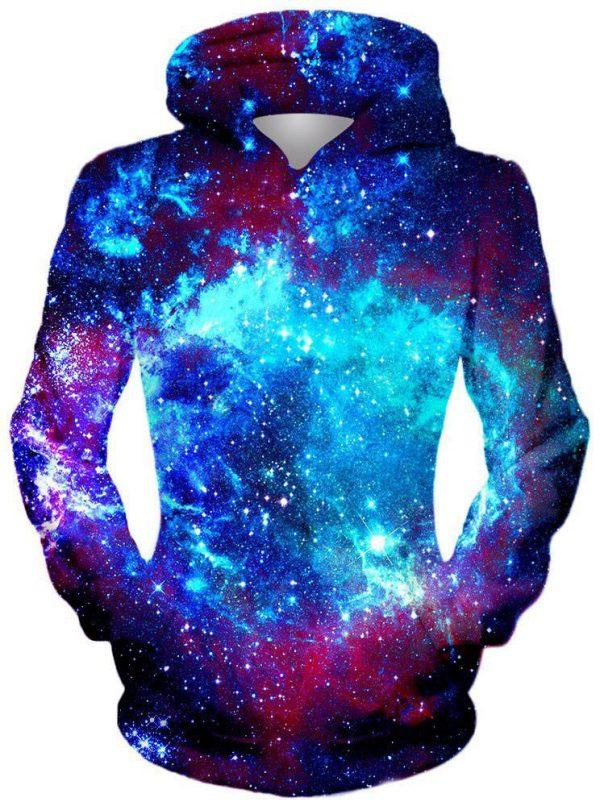 Blue Galaxy Front 1024x1024 367dbc86 6bb6 40d1 8221 6ef6fb4a0cc2 - Galaxy Hoodie