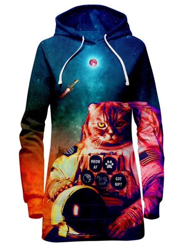 Catstronaut HoodieDress Mockup - Galaxy Hoodie