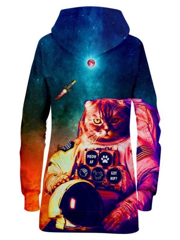 Catstronaut HoodieDress Mockup Back - Galaxy Hoodie