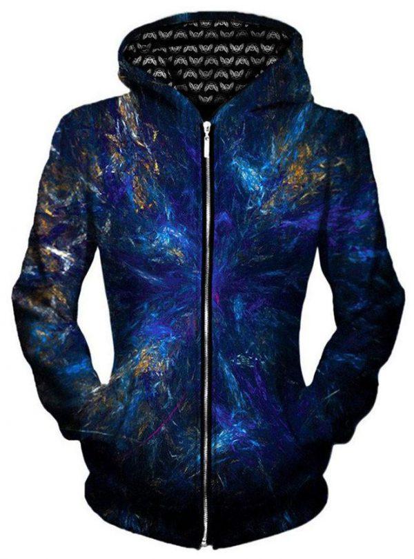 EH dark forest zip front - Galaxy Hoodie