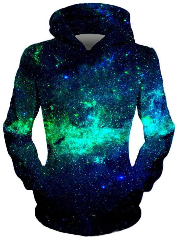 GReen GAlaxy Front 1e2c9853 434e 408f 8b2d 89556ba7bb89 - Galaxy Hoodie