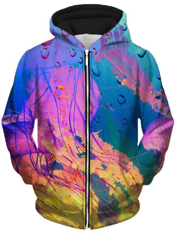 LucidEyeStudio HoodieZipUp02Front NeonJelly 2048x2730 1 - Galaxy Hoodie