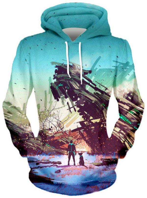 No Escape Front hoodie 1024x1024 0a6bb944 8248 4931 93ef 76c93af67ec6 - Galaxy Hoodie