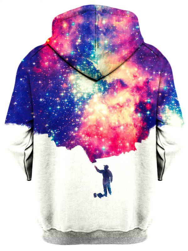 Painting The Universe b - Galaxy Hoodie