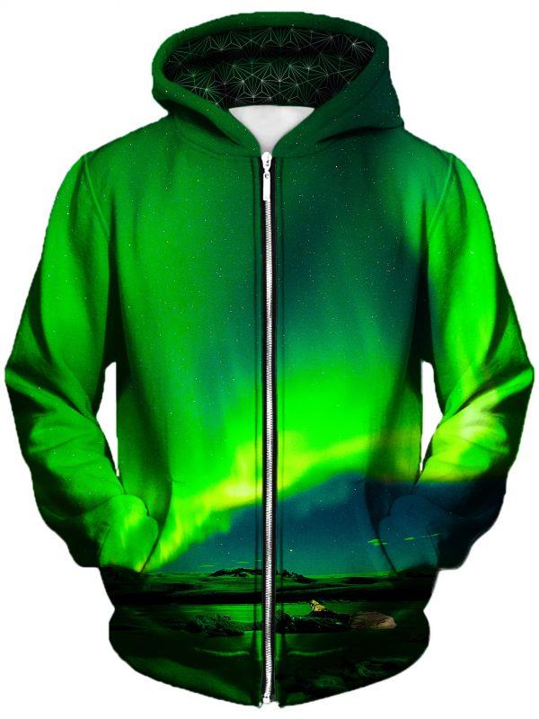 borealis art zip front - Galaxy Hoodie