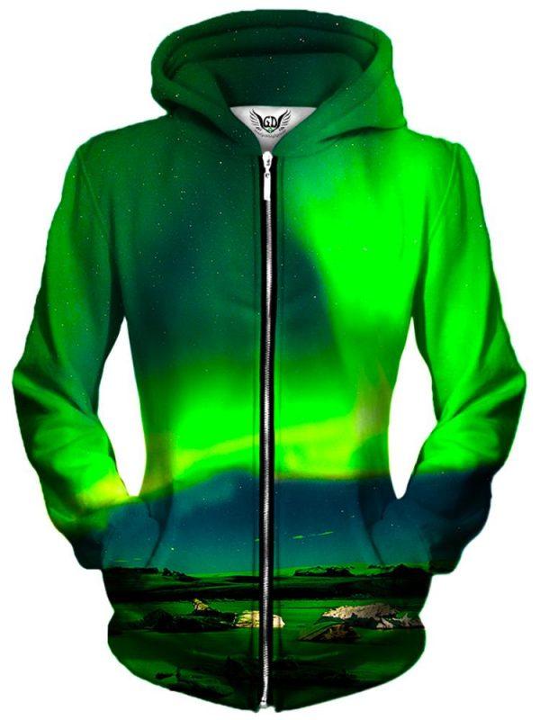 borealis zip womensfront - Galaxy Hoodie