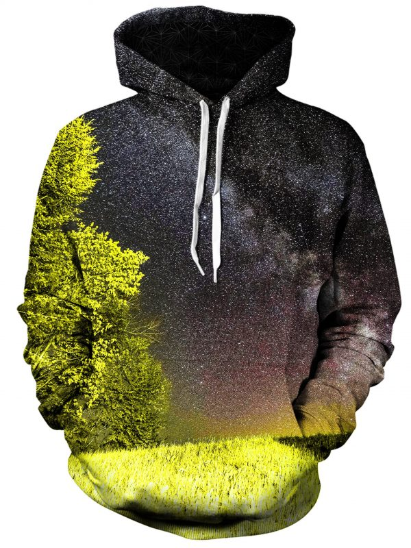 bright night art pullover front - Galaxy Hoodie