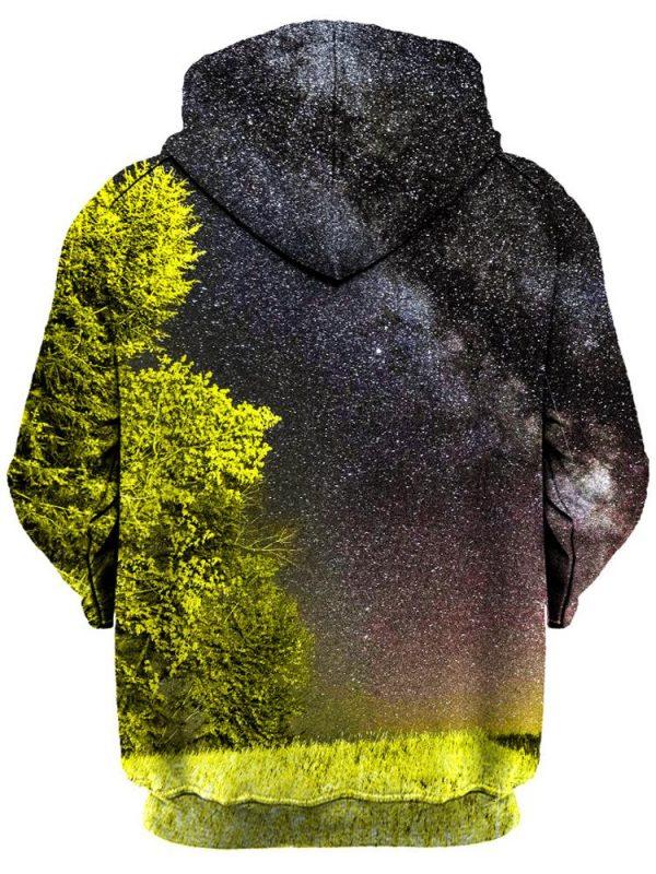 bright night pullover back - Galaxy Hoodie