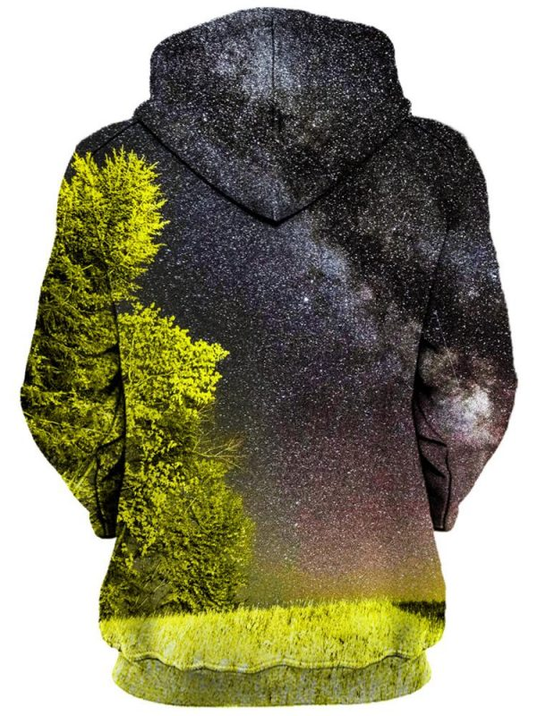 bright night pullover womensback - Galaxy Hoodie