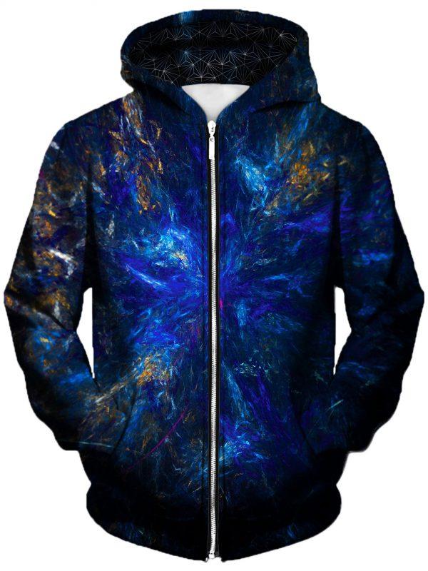 dark forest art zip front - Galaxy Hoodie