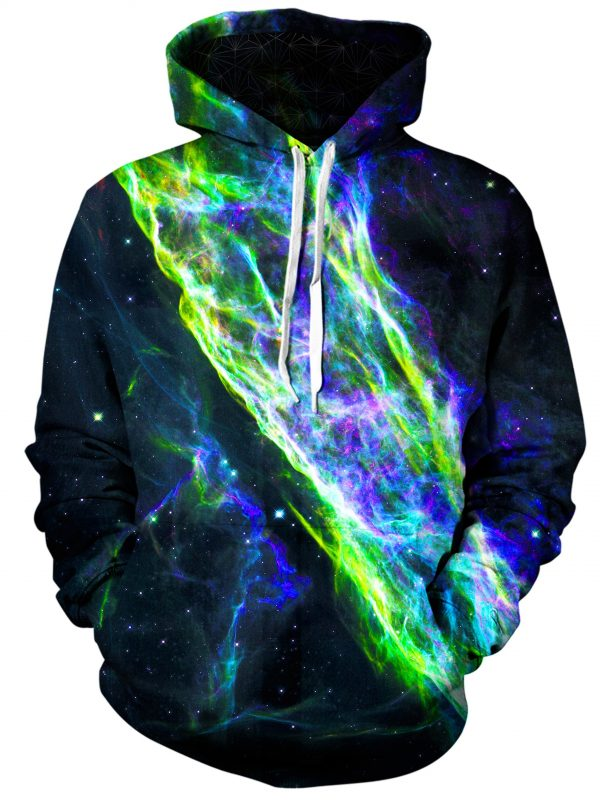 electric wave art pullover front - Galaxy Hoodie