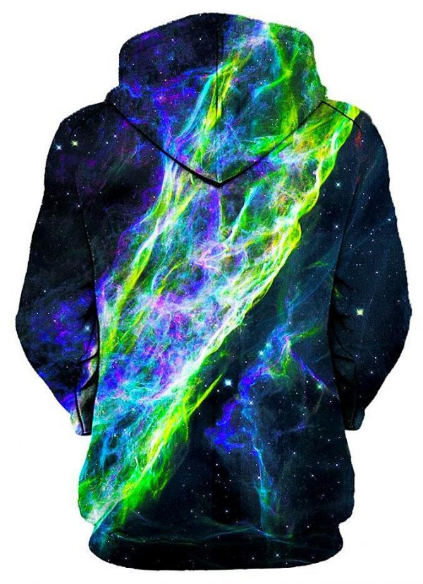 electric wave pullover womensback - Galaxy Hoodie