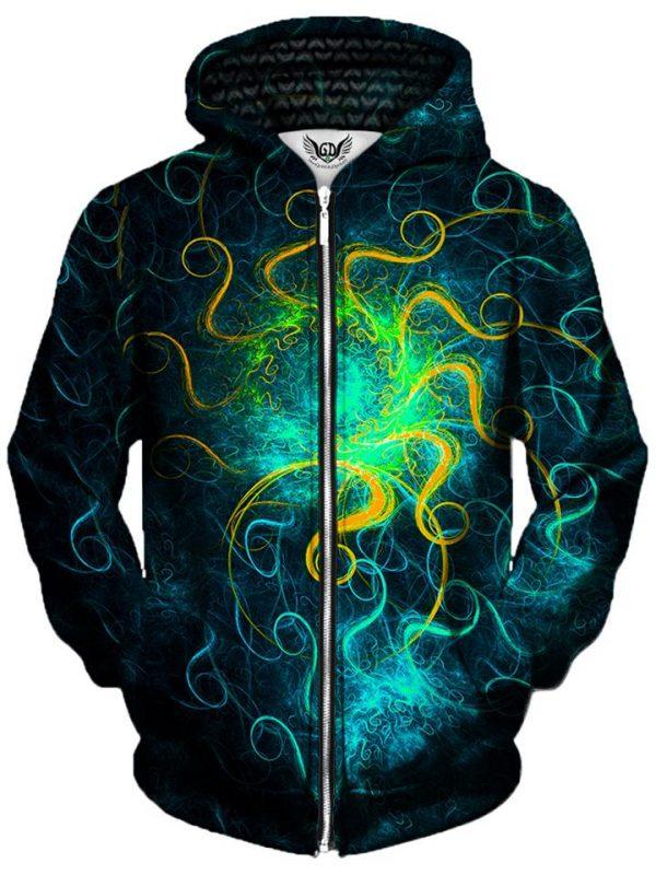 euphoric space zip front - Galaxy Hoodie