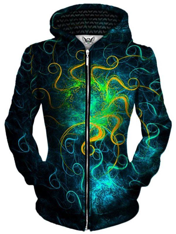 euphoric space zip womensfront - Galaxy Hoodie