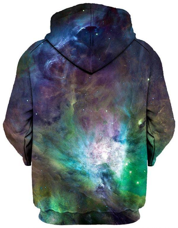 galactic green galaxy pullover back - Galaxy Hoodie