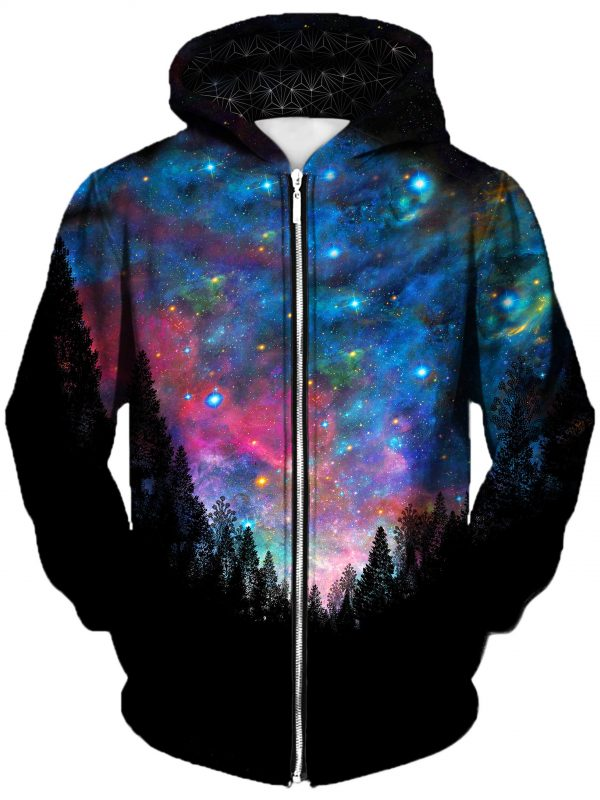 galactic valley art extended zip front - Galaxy Hoodie
