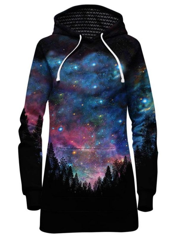 galactic valley hoodiedress front - Galaxy Hoodie