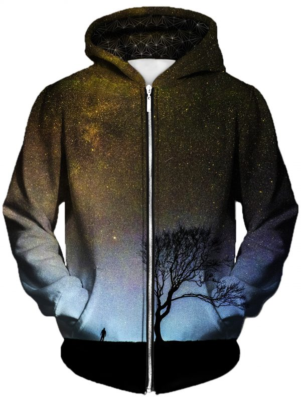 landing art zip front - Galaxy Hoodie