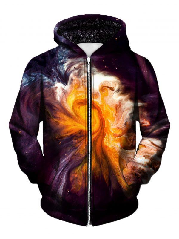merge art zip front - Galaxy Hoodie
