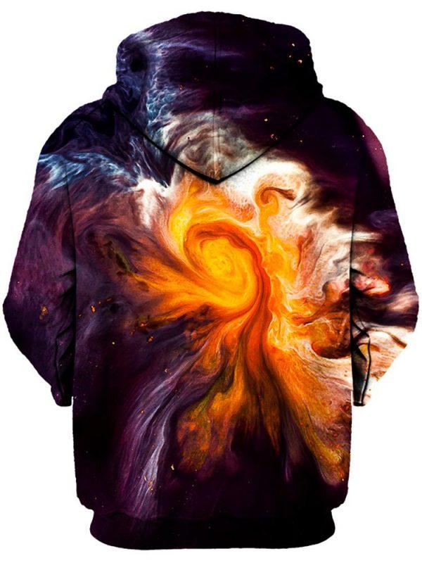 merge pullover back - Galaxy Hoodie
