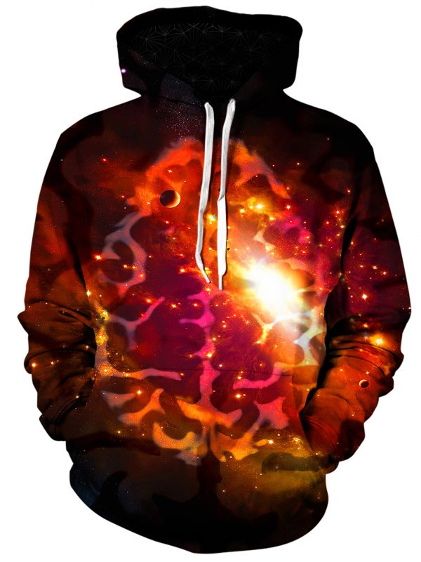 mindful space art pullover front - Galaxy Hoodie