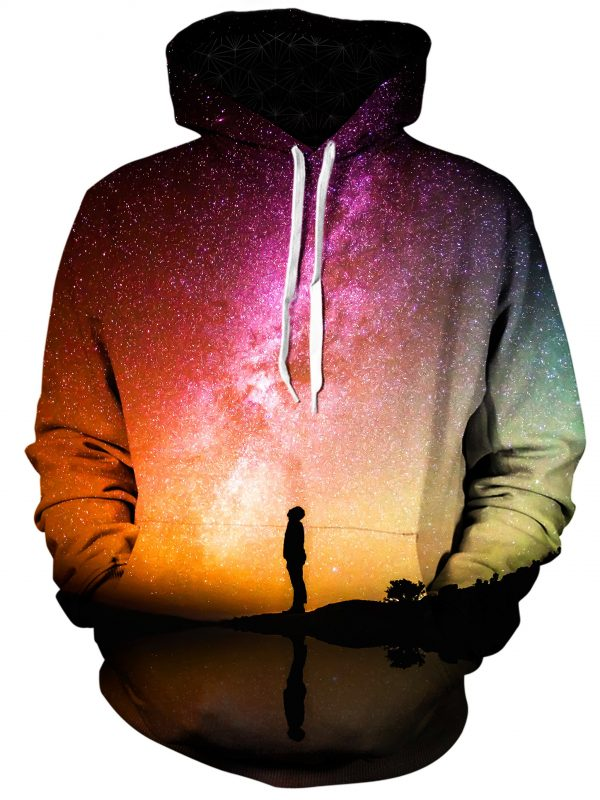 reflection art pullover front - Galaxy Hoodie