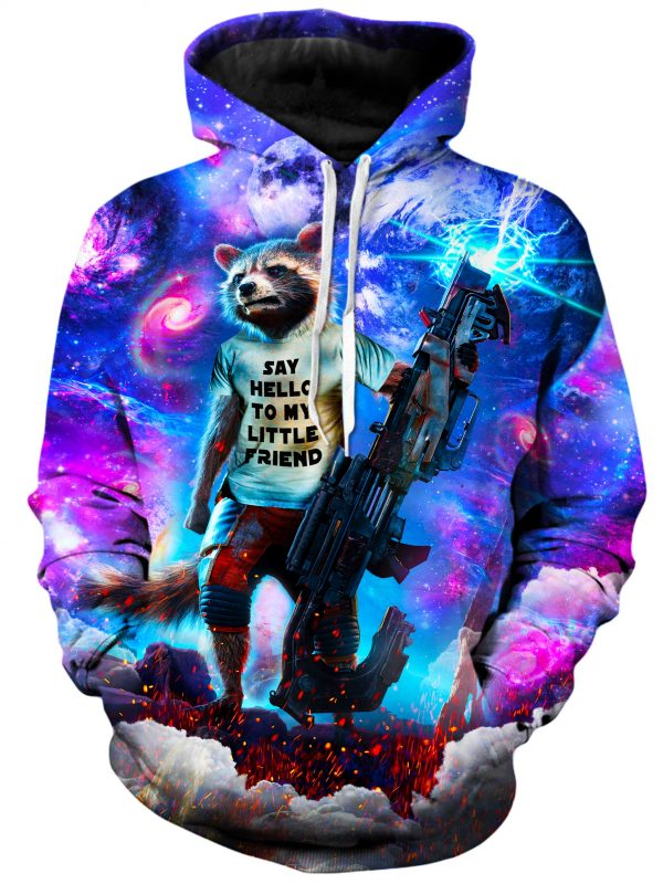 rocket raccoon hoodie 22121787729 1024x1024 ed294ba1 bae7 44bc 9e65 63fe685fd16f - Galaxy Hoodie
