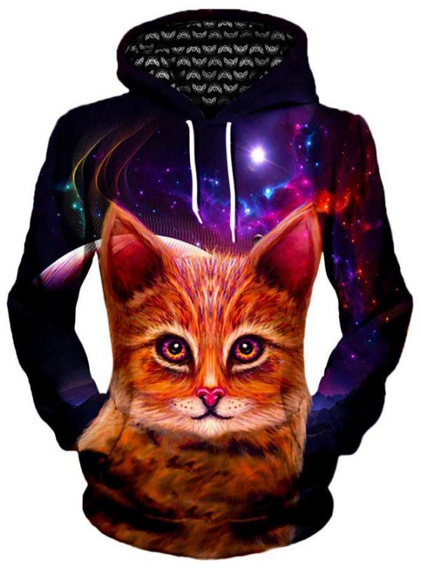 space cat pullover womensfront - Galaxy Hoodie