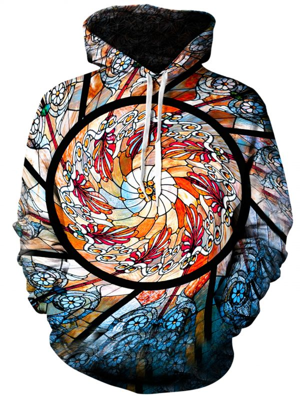 stained glass art extended pullover front - Galaxy Hoodie