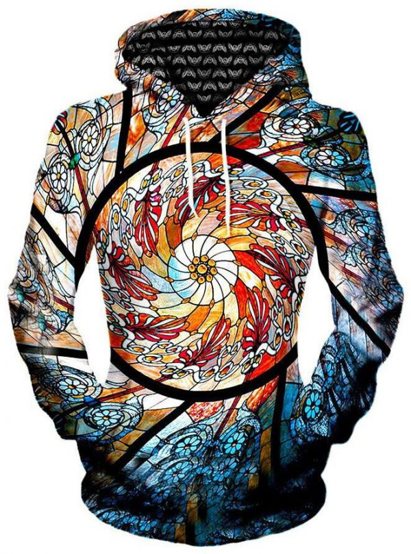 stained glass pullover womensfront 2d78cf98 b3dd 45da a3af 2a310734fd29 - Galaxy Hoodie