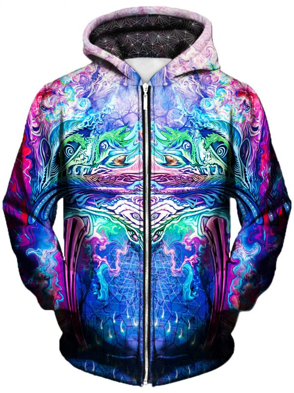 symetricity art extended zip front - Galaxy Hoodie