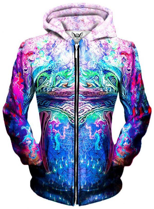 symetricity zip womensfront f103fe5e ec15 476a 9fc8 e00edf4dbf21 - Galaxy Hoodie