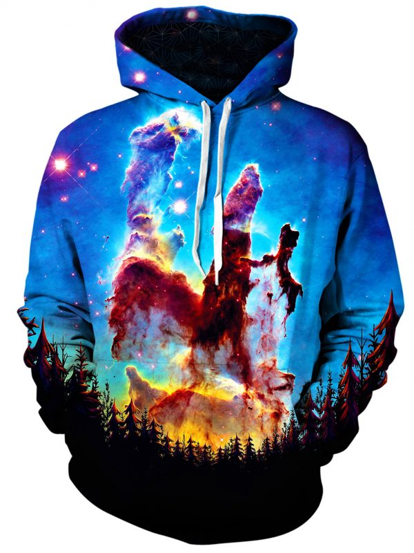 tree space art pullover front - Galaxy Hoodie