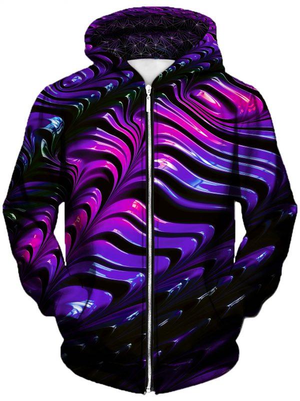 wavvy art zip front - Galaxy Hoodie